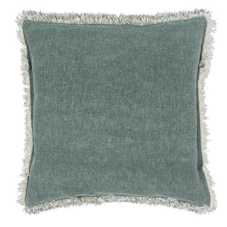 Kussen gevuld 45*45 cm Groen   KG023.025GR   Clayre & Eef