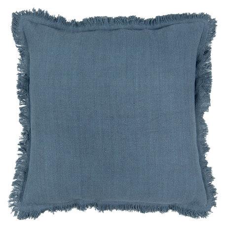 Kussen gevuld 45*45 cm Blauw | KG023.026DBL | Clayre & Eef