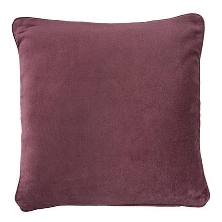 Kussen velvet gevuld 45*45 cm Rood | KG023.027R | Clayre & Eef