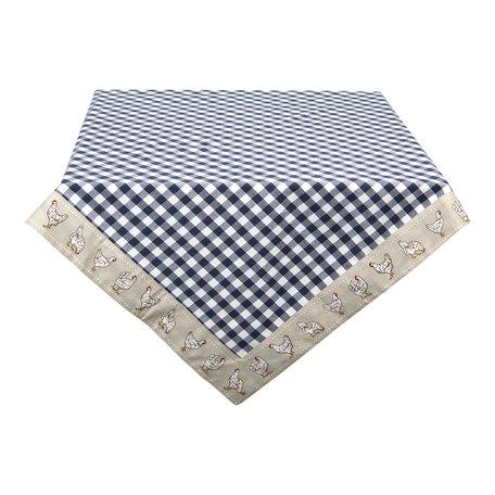 Tafelkleed 100*100 cm Blauw | LCH01BL | Clayre & Eef