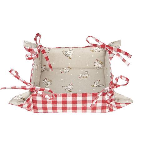 Broodmandje 35*35*8 cm Rood | LCH47R | Clayre & Eef