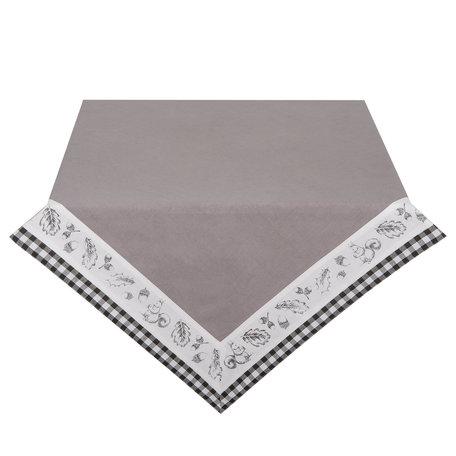 Tafelkleed 100*100 cm Grijs | LIF01 | Clayre & Eef