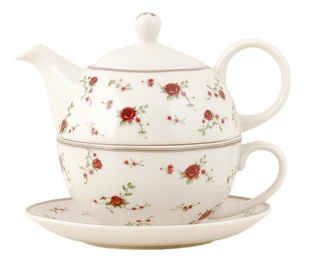 Tea for one set 17*15*14 cm /  0,4L Rood | LPRTEFO | Clayre & Eef