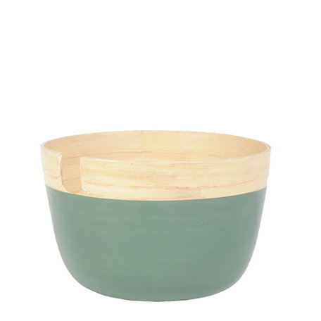 Kom ø 25*16 cm Groen   MMBA0001GR   Clayre & Eef