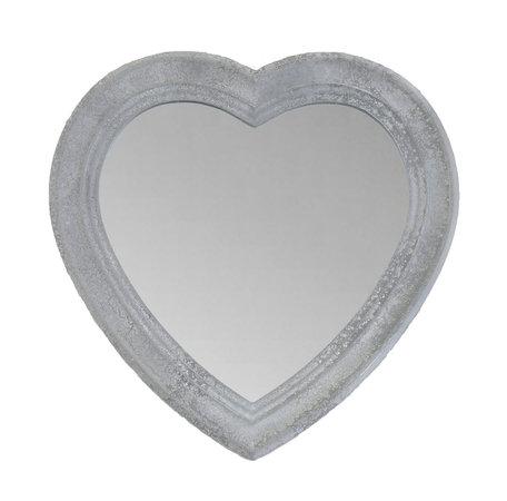 Spiegel 30*2*30 cm Geel   MMSP0009   Clayre & Eef