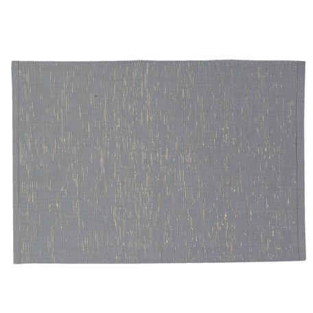 Placemat ( set van 6 ) 33*48 cm Grijs | PMBADG | Clayre & Eef
