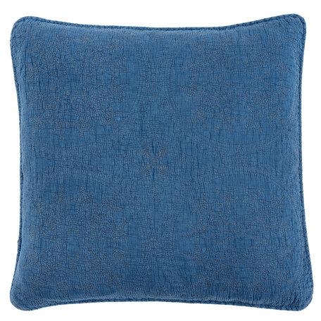 Kussenhoes stonewashed 40*40 cm Blauw | Q181.020BL | Clayre & Eef