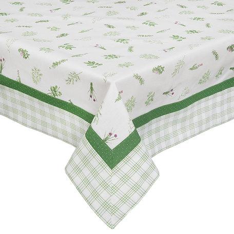 Tafelkleed 100*100 cm Groen | ROS01 | Clayre & Eef