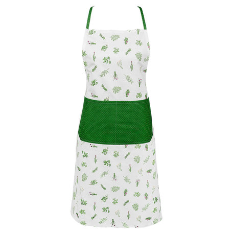 Keukenschort 70*85 cm Groen | ROS41 | Clayre & Eef