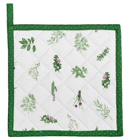 2 STUKS Pannenlap 20*20 cm Groen | ROS45 | Clayre & Eef