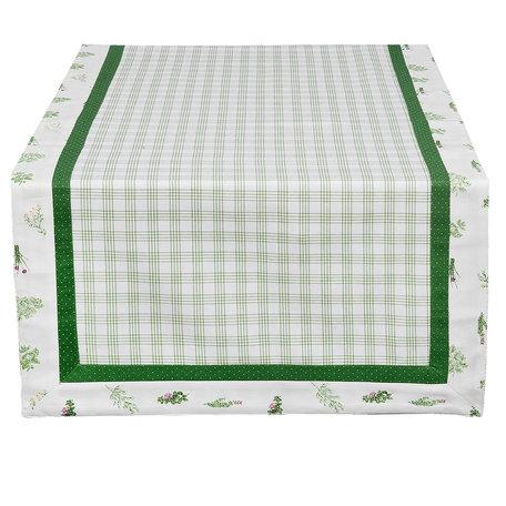 Tafelloper 50*140 cm Groen | ROS64 | Clayre & Eef