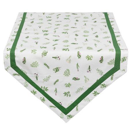 Tafelloper 50*160 cm Groen | ROS65 | Clayre & Eef