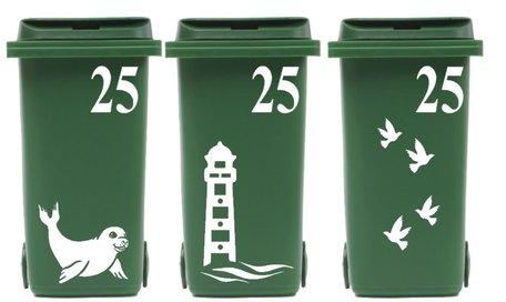 Voordeelset 9 delig Klikosticker Zeehond Vuurtoren Vogels Huisnummer | Rosami