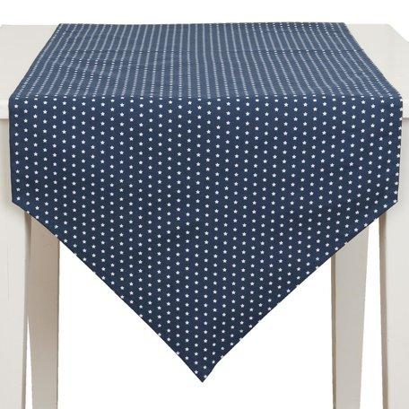 Tafelloper 50*160 cm Blauw | TLS65BL | Clayre & Eef
