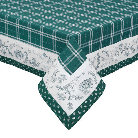 Tafelkleed 100*100 cm Groen | WF01 | Clayre & Eef