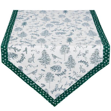 Tafelloper 50*160 cm Groen | WF65 | Clayre & Eef