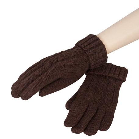 Handschoenen 8*21 cm Bruin | HA0009CH | Clayre & Eef