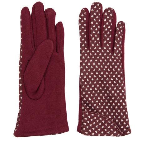 Handschoenen 8.5*24 CM Rood | JZGL0016BU | Clayre & Eef