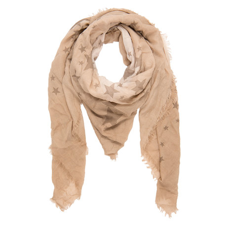 Sjaal 140*140 cm Beige | JZSC0035N | Clayre & Eef