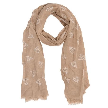 Sjaal 90*180 cm Bruin | JZSC0211B | Clayre & Eef