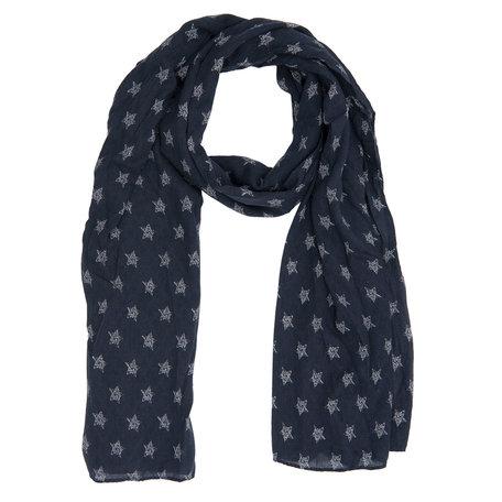 Sjaal 67*180 cm Blauw | JZSC0212DBL | Clayre & Eef