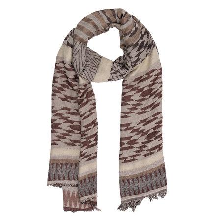 Sjaal 70*180 cm Bruin | JZSC0224B | Clayre & Eef