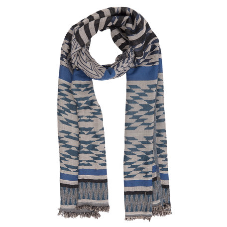 Sjaal 70*180 cm Blauw | JZSC0224BL | Clayre & Eef