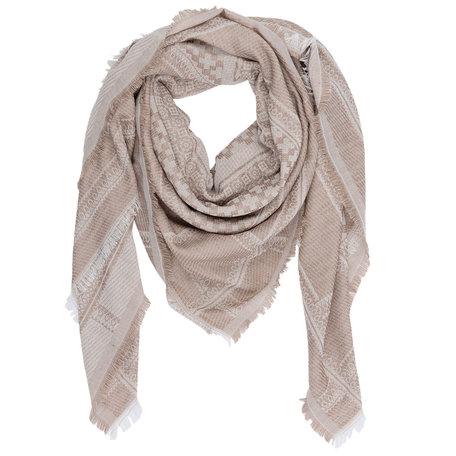 Sjaal 140*130 cm Beige | JZSC0225KH | Clayre & Eef