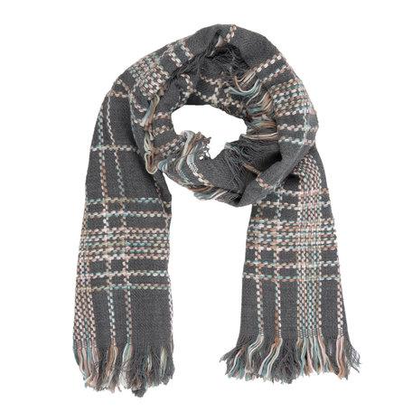 Sjaal 65*180 cm Grijs | JZSC0239G | Clayre & Eef