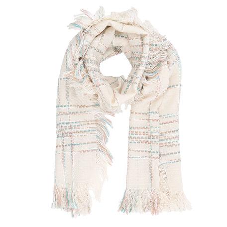 Sjaal 65*180 cm Creme | JZSC0239N | Clayre & Eef