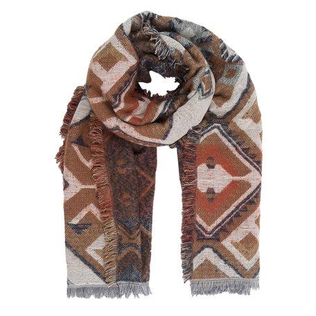 Sjaal 65*180 cm Bruin | JZSC0241B | Clayre & Eef