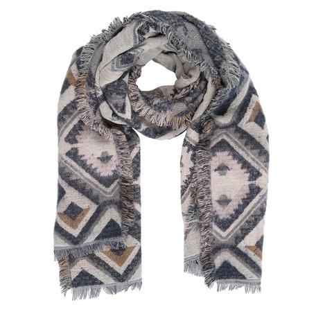 Sjaal 65*180 cm Blauw | JZSC0241BL | Clayre & Eef
