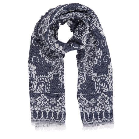 Sjaal 65*180 cm Blauw | JZSC0242BL | Clayre & Eef