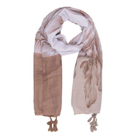 Sjaal 90*180 cm Bruin | JZSC0296CH | Clayre & Eef