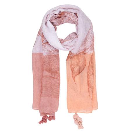 Sjaal 90*180 cm Roze | JZSC0296P | Clayre & Eef