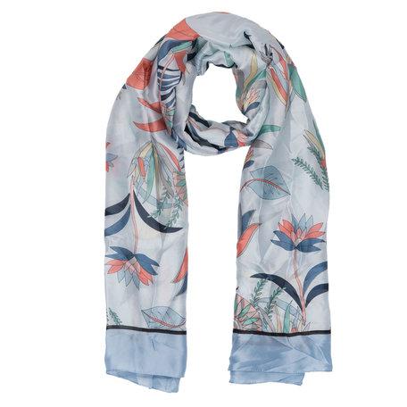 Sjaal 90*180 cm Blauw | JZSC0307BL | Clayre & Eef