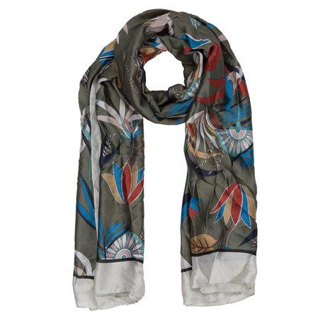 Sjaal 90*180 cm Groen | JZSC0307GR | Clayre & Eef