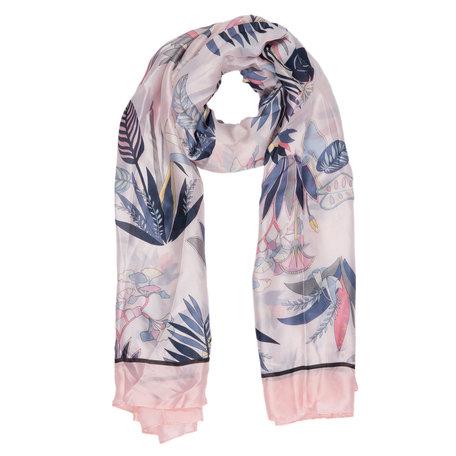 Sjaal 90*180 cm Roze | JZSC0307P | Clayre & Eef