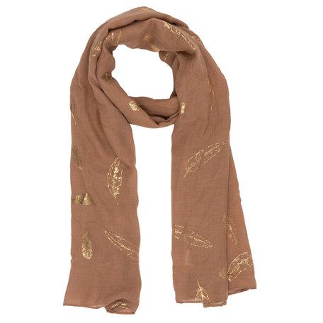 Sjaal 70*180 cm Bruin | JZSC0319CH | Clayre & Eef