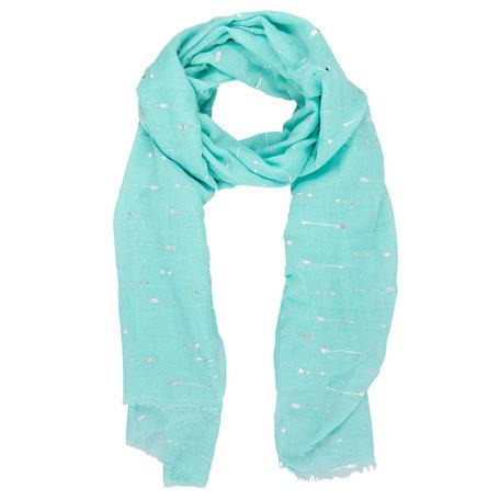 Sjaal 70*180 cm Groen | JZSC0338LGR | Clayre & Eef