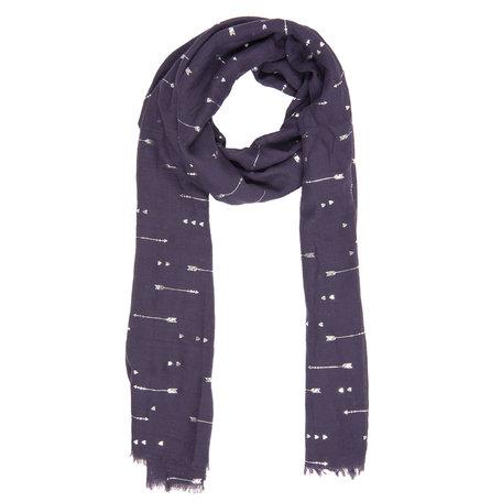 Sjaal 70*180 cm Blauw | JZSC0338PE | Clayre & Eef