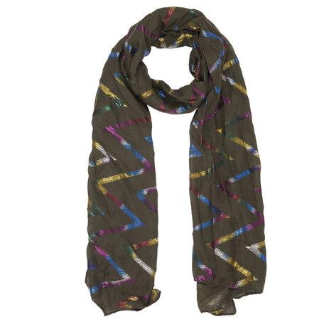 Sjaal 70*180 cm Groen | JZSC0359GR | Clayre & Eef