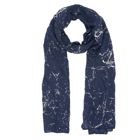 Sjaal 70*180 cm Blauw | JZSC0361BL | Clayre & Eef