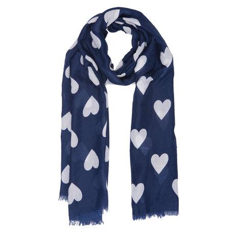 Sjaal 90*180 cm Blauw | JZSC0365BL | Clayre & Eef