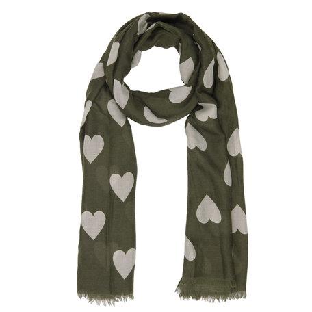 Sjaal 90*180 cm Groen | JZSC0365GR | Clayre & Eef
