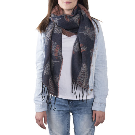 Sjaal 60*180 cm Blauw | JZSC0370BL | Clayre & Eef