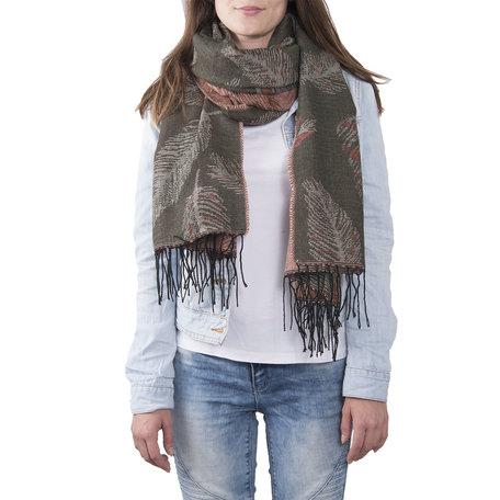 Sjaal 60*180 cm Groen | JZSC0370GR | Clayre & Eef