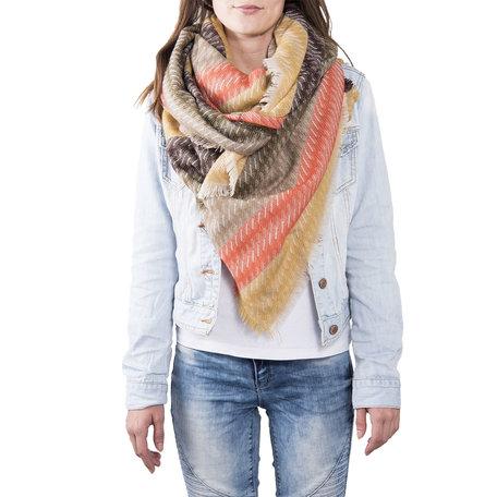 Sjaal 130*130 cm Groen | JZSC0371GR | Clayre & Eef