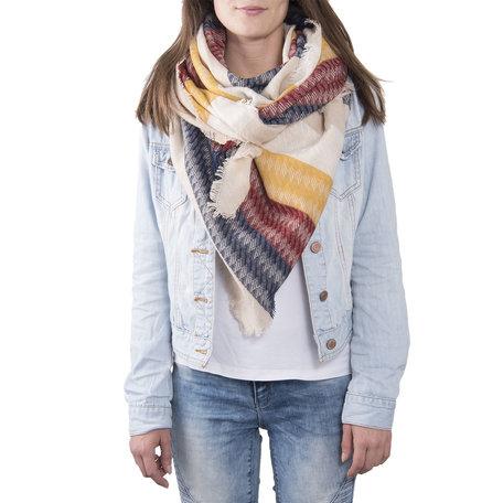 Sjaal 130*130 cm Rood | JZSC0371R | Clayre & Eef