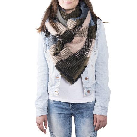 Sjaal 130*130 cm Blauw | JZSC0372BL | Clayre & Eef